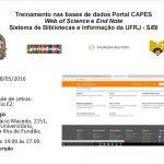 Treinamento nas bases de dados Portal CAPES: Web of Science e End Note